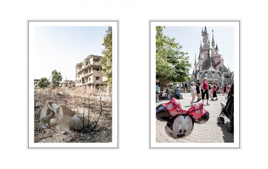 screaming silence I 2019 - 31 disneyland paris & jobar, damscus, syria, leica q2